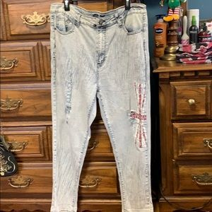 Union Jack distressed jeans!